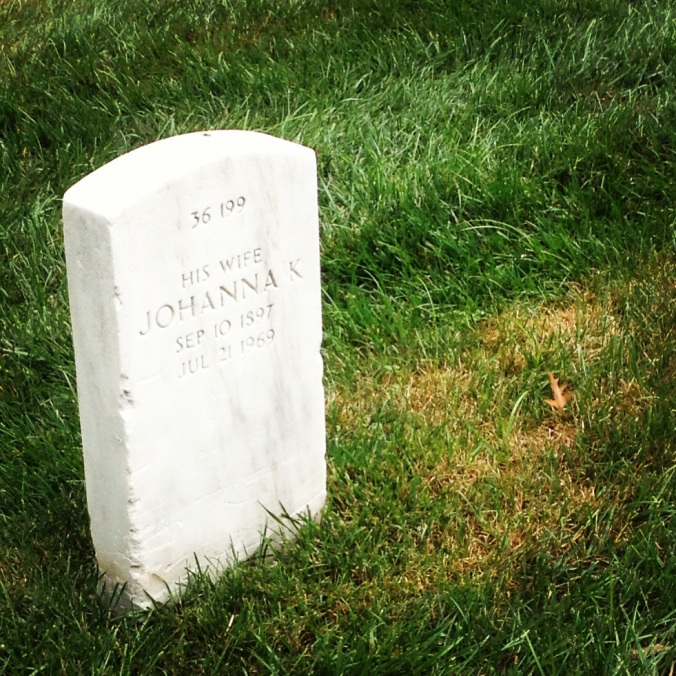 His wife headstone
