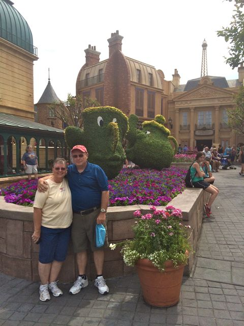 The parentals with Mrs. Potts and Chip. <3 this one.