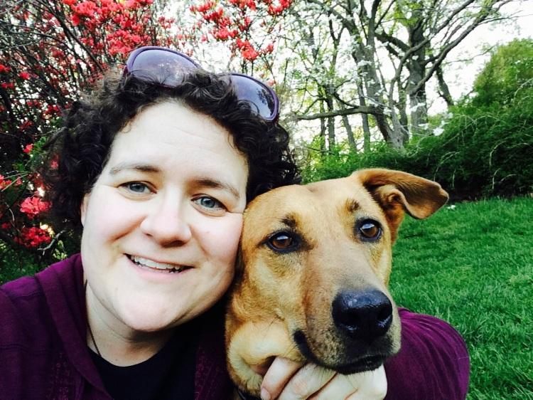 Jodi and Sadie at the Arboretum