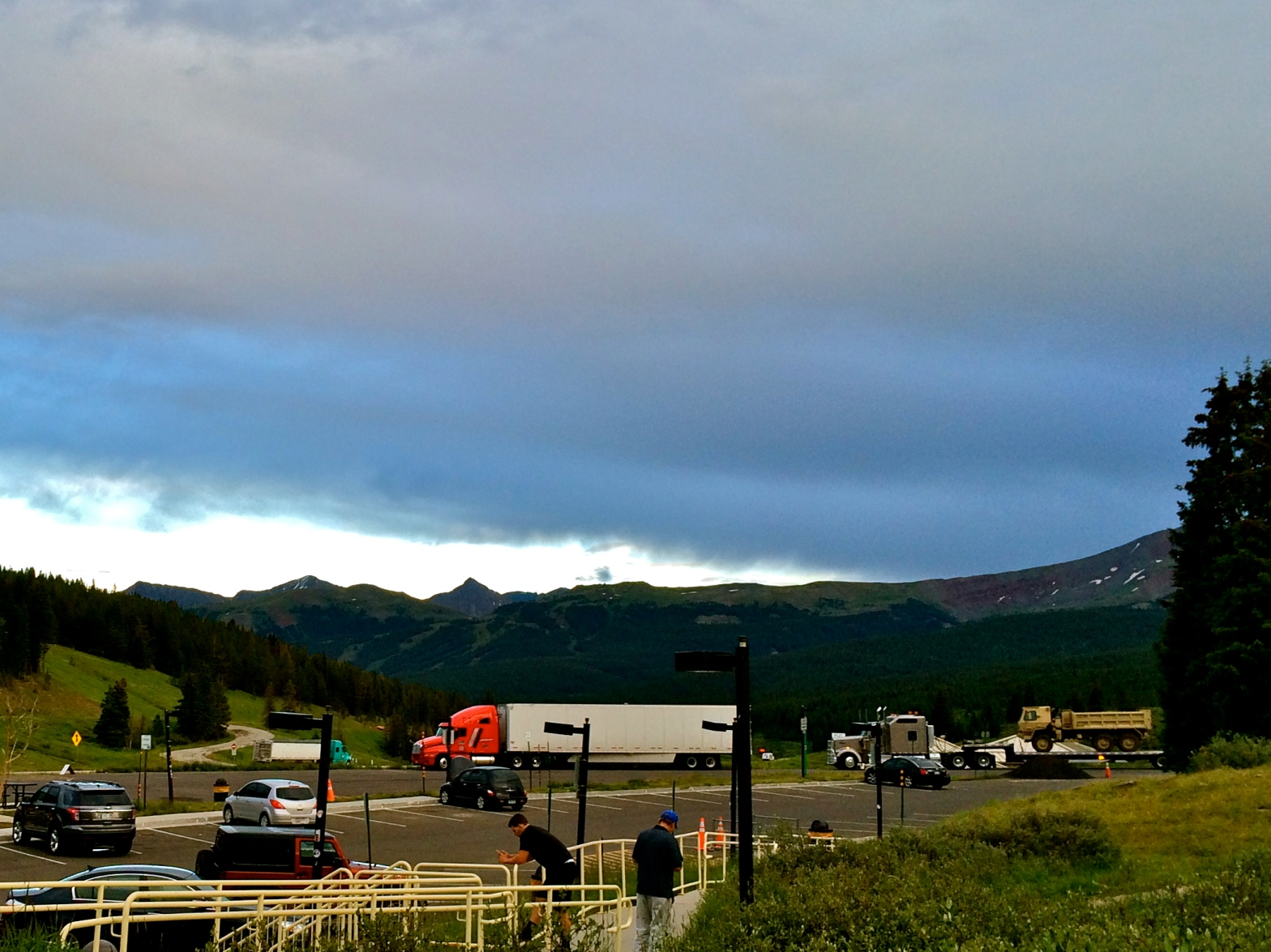 View of mountains at rest stop