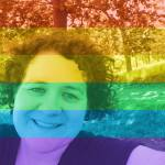 Photo of Jodi with rainbow filter