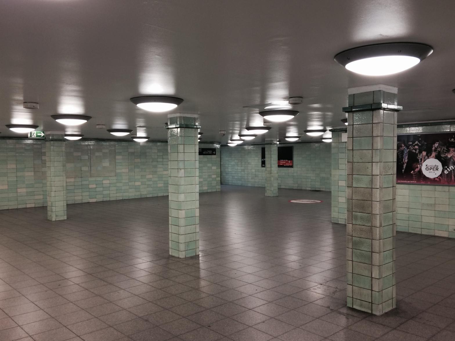 East German train station