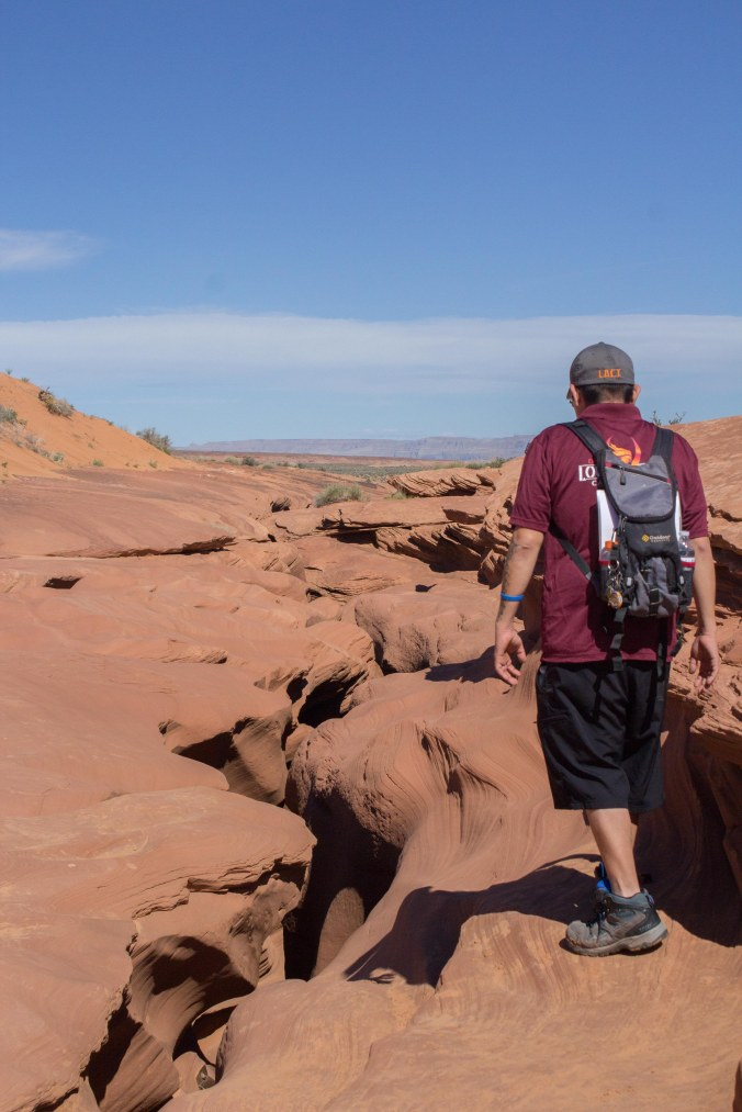 Looking at a Slot Canyon from above